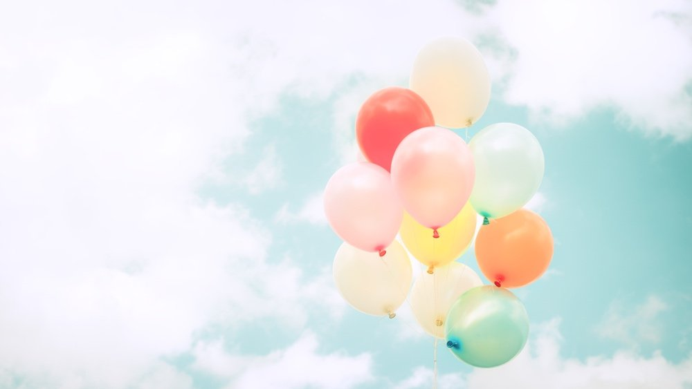Balloons represent leity and happiness. But is happiness aiming too low?